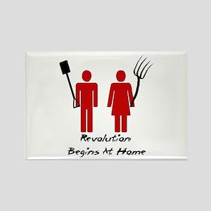 Revolution Begins At Home Magnets