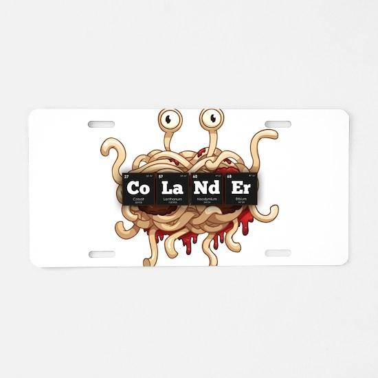 Periodic Elements: CoLaNdEr Aluminum License Plate