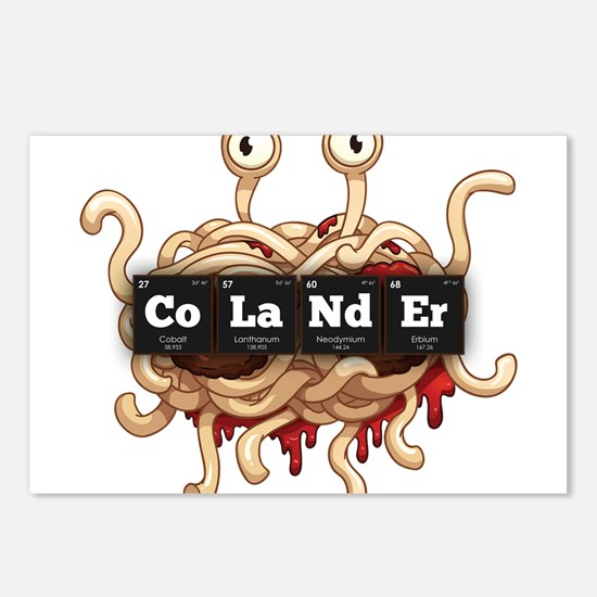 Periodic Elements: CoLaNdEr Postcards (Package of