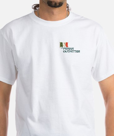 """""""The Fenian Outfitter"""" White T-Shirt"""