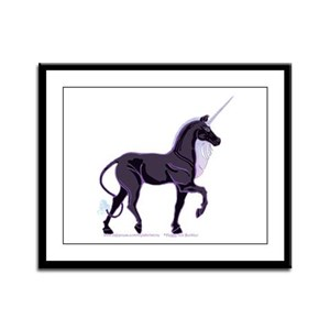 Dark Unicorn Picture Framed Panel Print