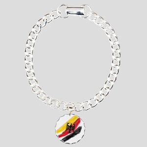 Germany Soccer Charm Bracelet, One Charm
