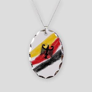 Germany Soccer Necklace Oval Charm