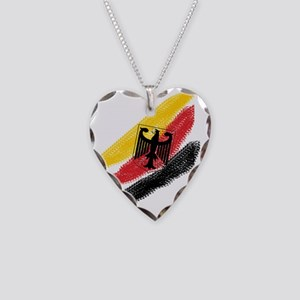 Germany Soccer Necklace Heart Charm