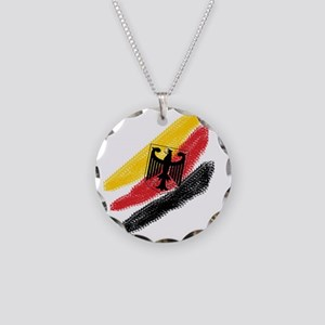 Germany Soccer Necklace Circle Charm