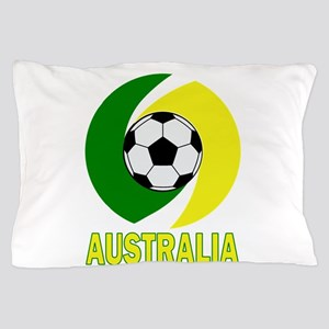 Green and Yellow Australia Soccer ball Pillow Case