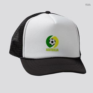 Green and Yellow Australia Soccer Kids Trucker hat