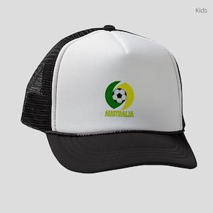 Green and Yellow Australia Soccer Kids Trucker hat