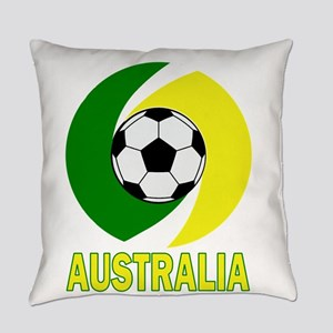 Green and Yellow Australia Soccer Everyday Pillow