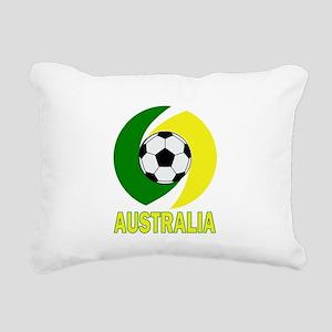 Green and Yellow Austral Rectangular Canvas Pillow