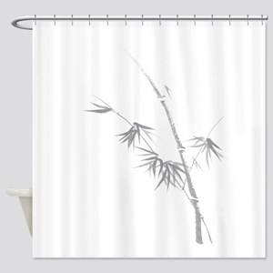 Bamboo stalk with leaves oriental sumi-e painting