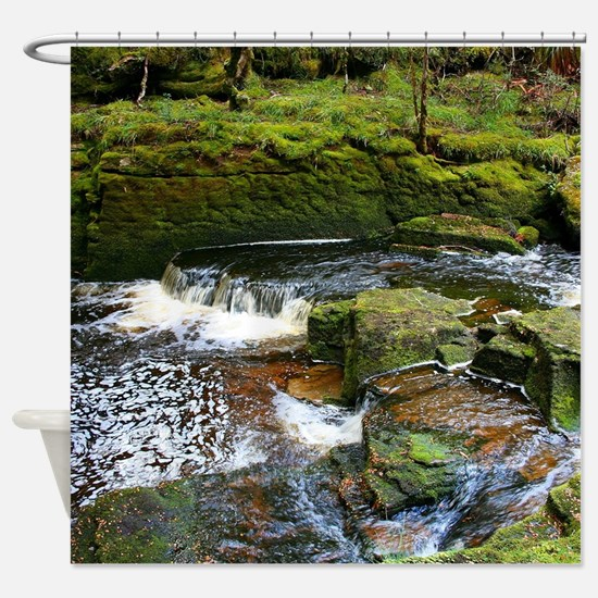 Secluded creek Shower Curtain