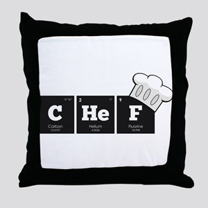 Periodic Elements: CHeF Throw Pillow