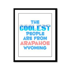 Coolest: Arapahoe, WY Framed Panel Print