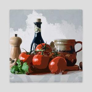 Italian Meal Prep Still Life Queen Duvet