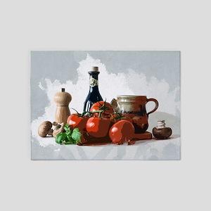 Italian Meal Prep Still Life 5'x7'Area Rug