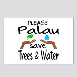Please Palau Save Trees & Postcards (Package of 8)