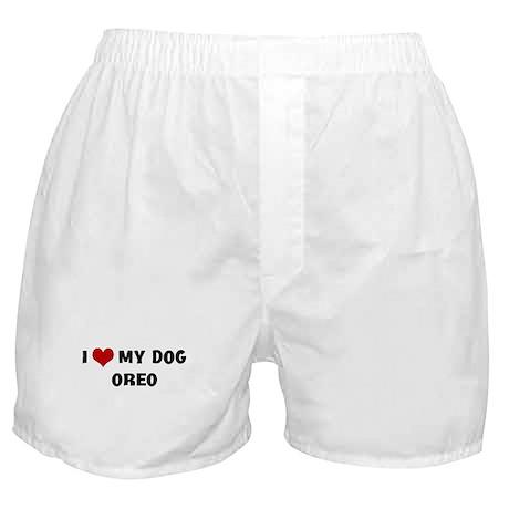 I Love My Dog Oreo Boxer Shorts