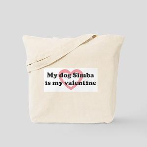 Simba is my valentine Tote Bag
