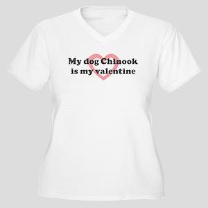 Chinook is my valentine Women's Plus Size V-Neck T