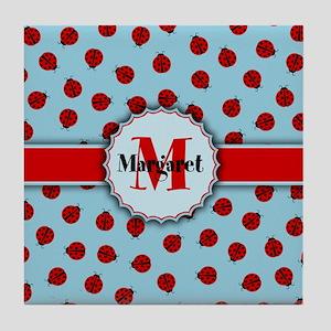 MONOGRAM Ladybug Pattern Tile Coaster