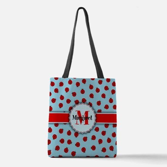 MONOGRAM Ladybug Pattern Polyester Tote Bag