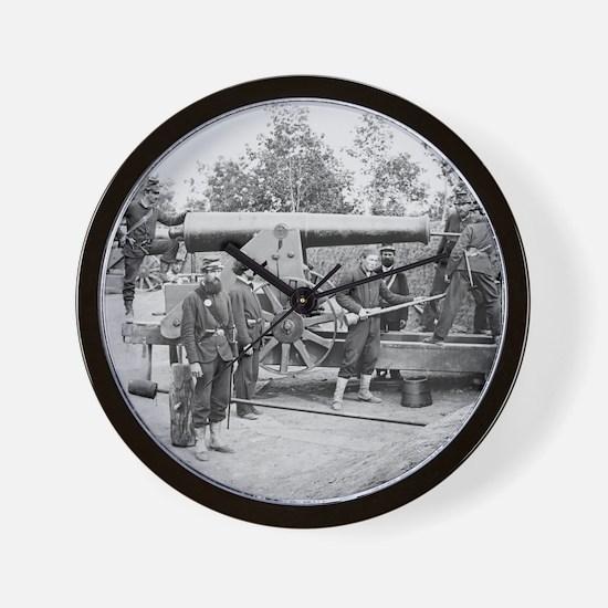 Cannon Ft Woodbury 1863 Wall Clock