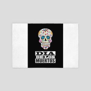Dia De Los Muertos 4' x 6' Rug