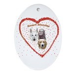 Smart Blondes Oval Ornament