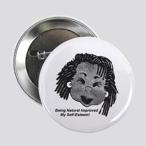 """Being Natural 2.25"""" Button"""
