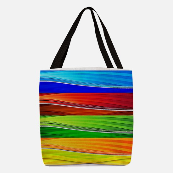 fields of bright colors Polyester Tote Bag