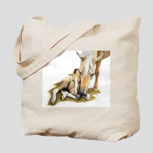 Palomino, Mare, buckskin, foa Tote Bag