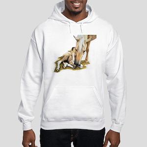Palomino, Mare, buckskin, foa Hooded Sweatshirt