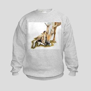 Palomino, Mare, buckskin, foa Kids Sweatshirt