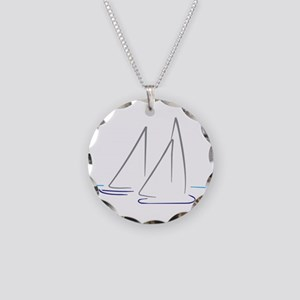 sailing Necklace Circle Charm