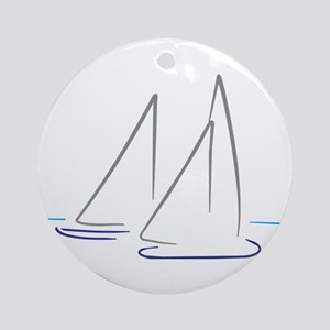 sailing Round Ornament