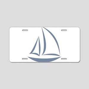 segeln Aluminum License Plate