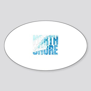 North Shore Oval Sticker