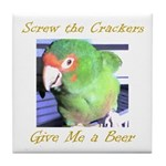 Screw the Crackers Tile Coaster