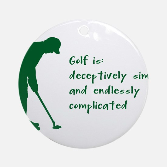 Golf Round Ornament