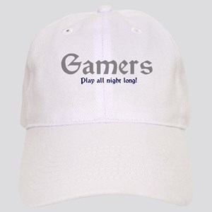 Gamers Play All Night Long Cap