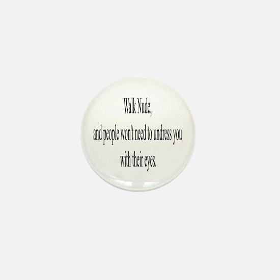 Cute Naturist Mini Button