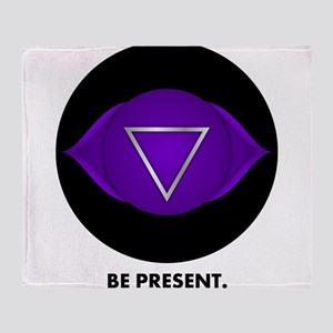 Be Present. Throw Blanket