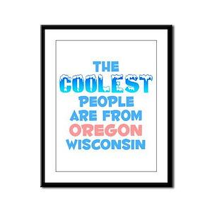 Coolest: Oregon, WI Framed Panel Print