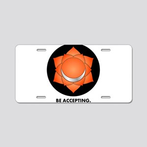Be Accepting. Aluminum License Plate