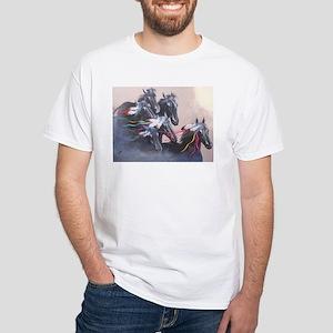 Fancy Free Hollywood Horses White T-Shirt