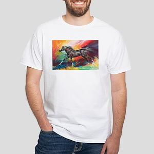 German Horse Running White T-Shirt