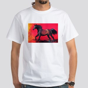 bright Running Horse White T-Shirt