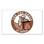 For The Horse of Course Rectangle Sticker