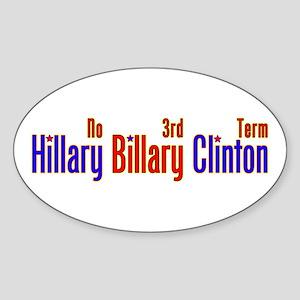 Hillary Billary Clinton Oval Sticker